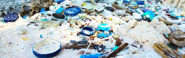 Plastic pollution, Cocos Keeling Islands.
