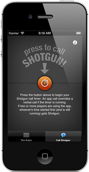 Official shotgun rules.
