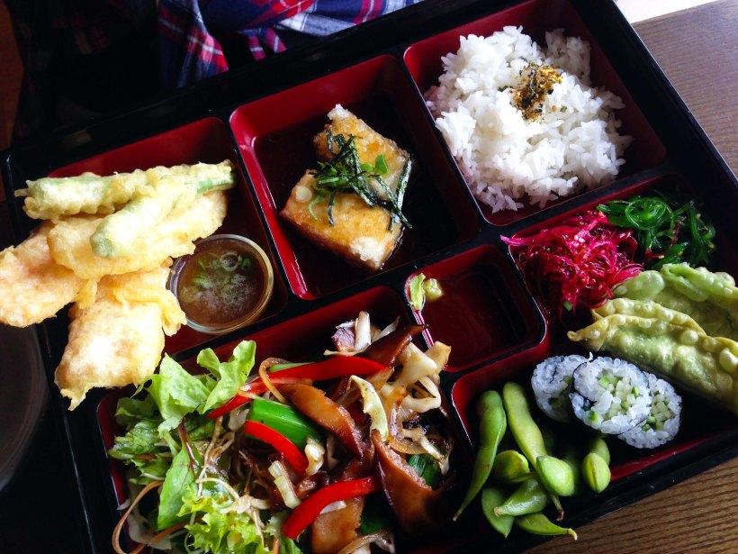 Vegetarian bento box, Mira Restaurant, Manly.