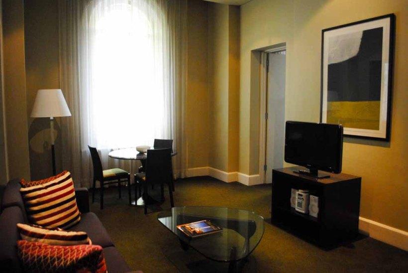 Spacious apartment at the Treasury Adina Apartment Hotel, Adelaide.