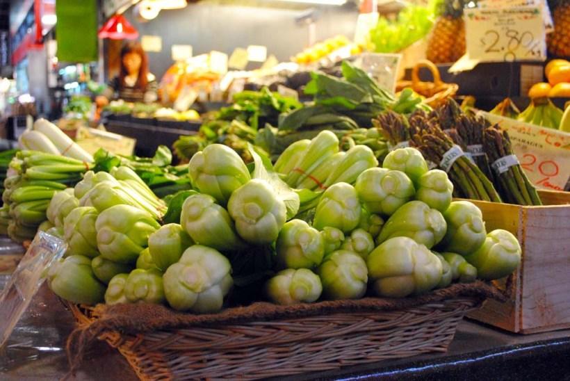 Fresh organic vegetables at Adelaide Central Market.