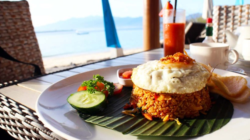 Breakfast at The Reef, Gili Meno