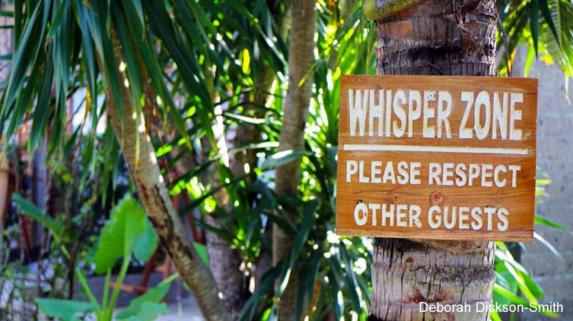 Entering the Whisper Zone at Komune Resort and Beach Club.